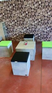 steigerhouten lounge set laag