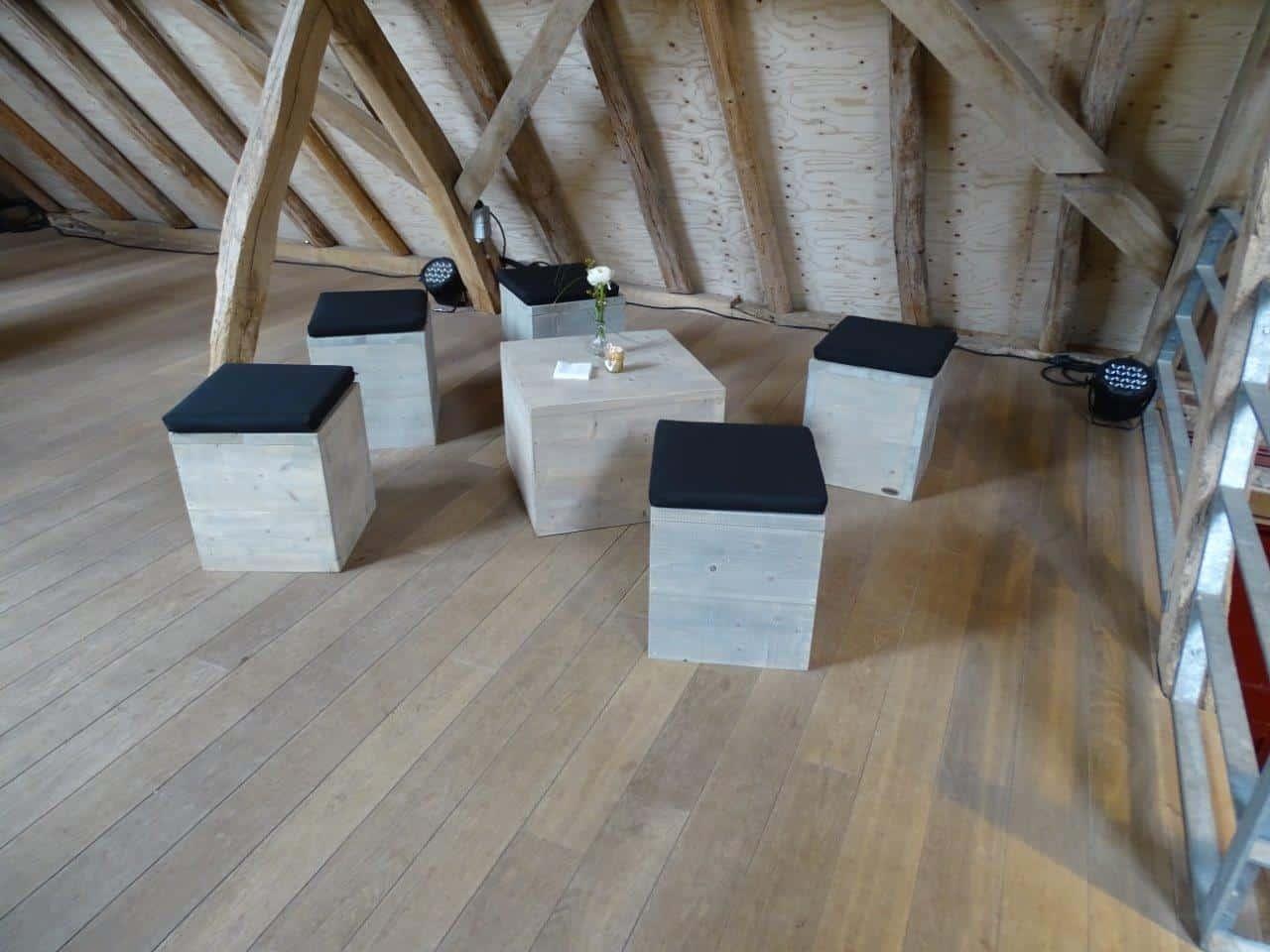 Steigerhouten meubelen huren west vlaanderen   eventinators